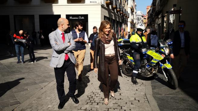 Cristina Peláez en la calle Tetúan
