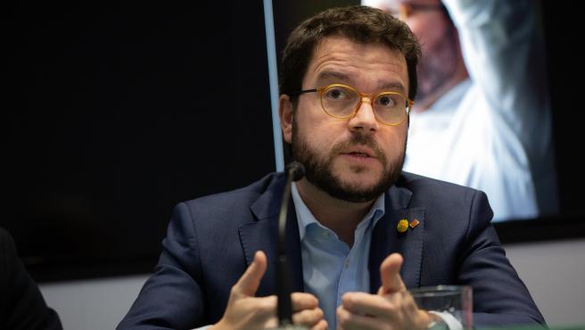 El vicepresident de la Generalitat, Pere Aragonès (archivo)