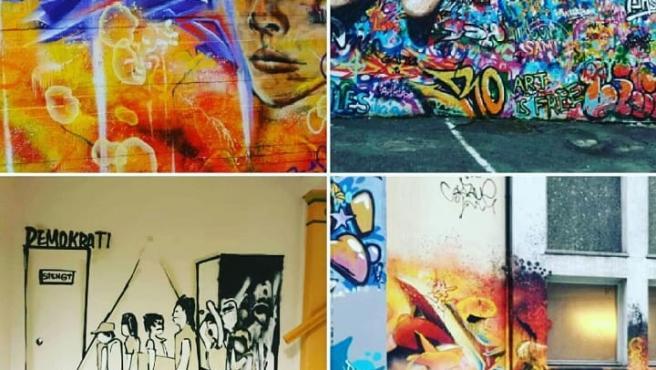 Murales de la pareja de artistas de 'Artsowing'