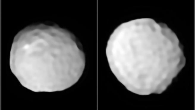 Pallas, el asteroide 'pelota de golf' esculpido a impactos.