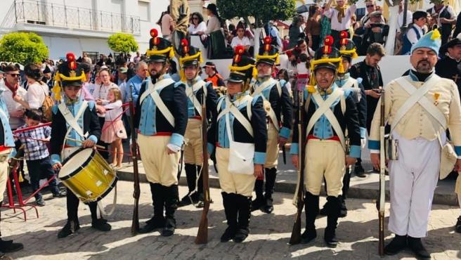 Recreación histórica del alzamiento de Riego en Las Cabezas de San Juan