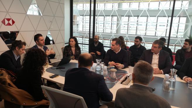Reunión de la delegación regional con The Floor, empresa de 'fintech' que trabaja con grandes bancos internacionales para financiar empresas emergentes