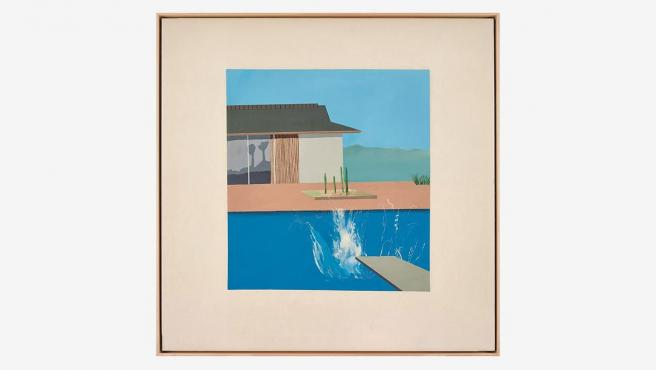 Imagen de la obra 'The Splash', de David Hockney.