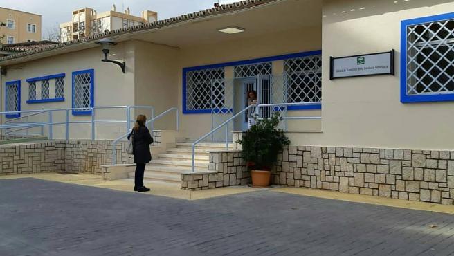 Entrada de la Unidad de trastornos alimentarios de Málaga, la única de Andalucía.