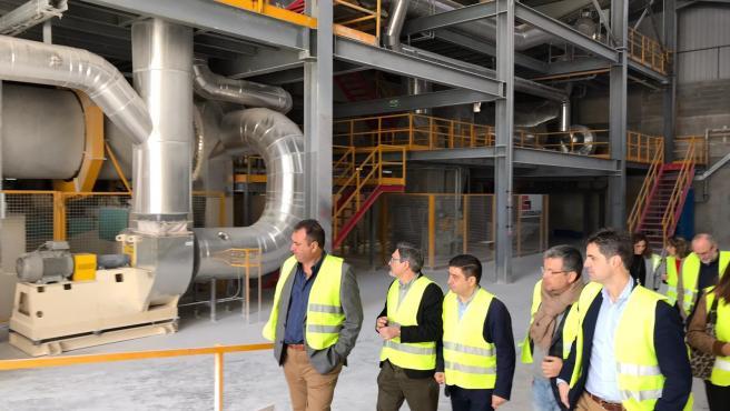 Visita del presidente de la Diputación de Jaén, Francisco Reyes, a Escayescos