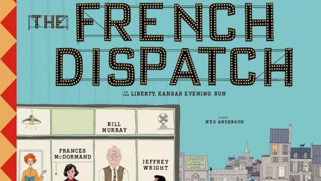 'The French Dispatch': Wes Anderson tiene un póster de línea clara