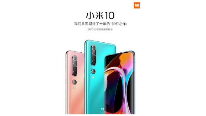 Imagen oficial del nuevo Xiaomi Mi 10