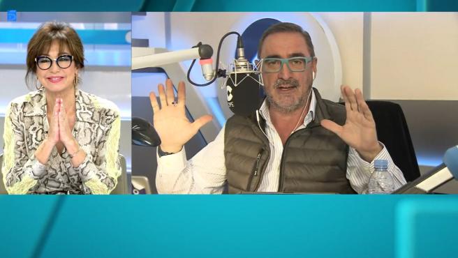 Ana Rosa Quintana y Carlos Herrera en Telecinco.