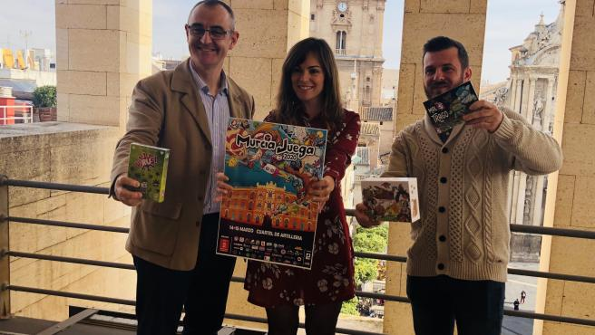 César Nebot, Rebeca Pérez y Gustavo Vidal presentan el evento 'MurciaJuega 2020'
