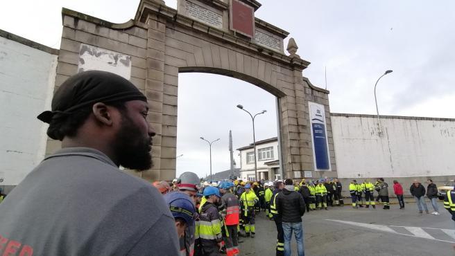 Concentración a las puertas de Navantia en Ferrol.