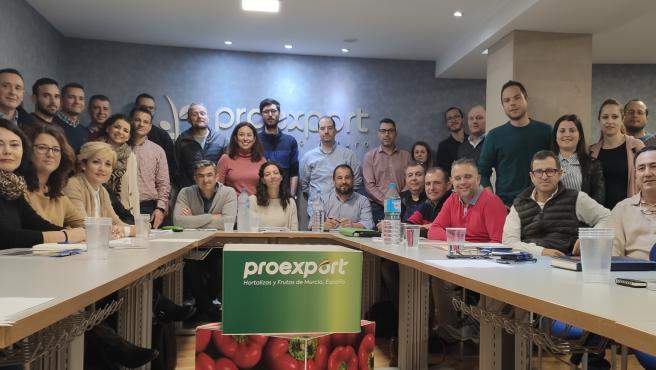 Encuentro organizado por Proexport con ingenieros agrónomos de sus empresas asociadas y técnicos de la Consejería de Agricultura para abordar el cumplimiento del Decreto Ley de Protección Integral del Mar Menor