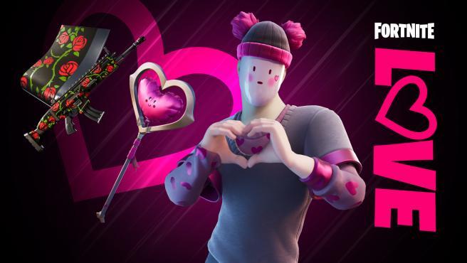 Hay nuevas 'skins' y nuevos objetos en 'Fortnite' para celebrar San Valentín.
