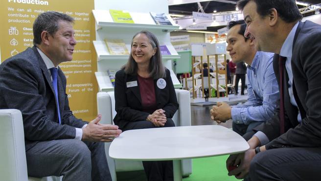 García-Page y Martínez Arroyo mantienen un encuentro de trabajo con la presidenta de Ifoam-Organics International, Peggy Miars