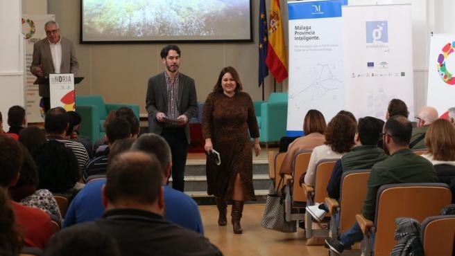 La vicepresidenta de la Diputación de Malaga Natacha Rivas en la jornada en La Noria sobre despoblación