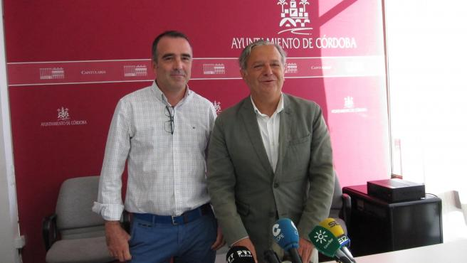 Salvador Fuentes con Alfonso López en una imagen de archivo.