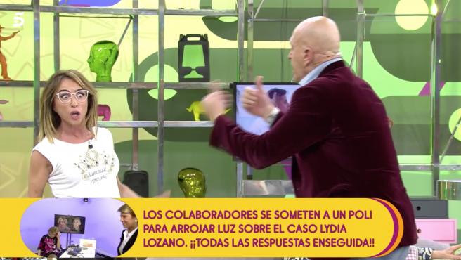 María Patiño y Kiko Matamoros discuten en 'Sálvame'.