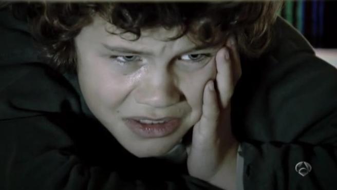 Sergio Castellanos con 9 años en 'Los protegidos'.