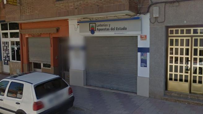 Imagen de la Administración de Lotería número 1 de Casas Ibáñez (Albacete).