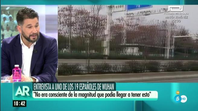 Manuel Vela, español repatriado desde Wuhan.