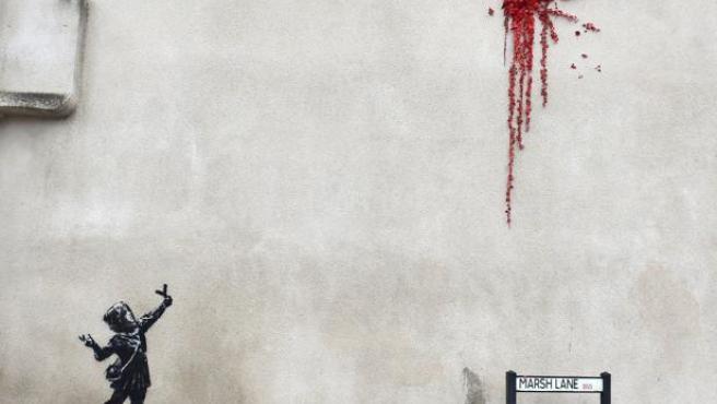 Aparece un mural de Bansky en Bristol por San Valentín.