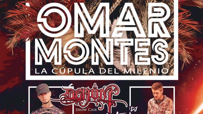 Cartel concierto de Omar Montes en Valladolid