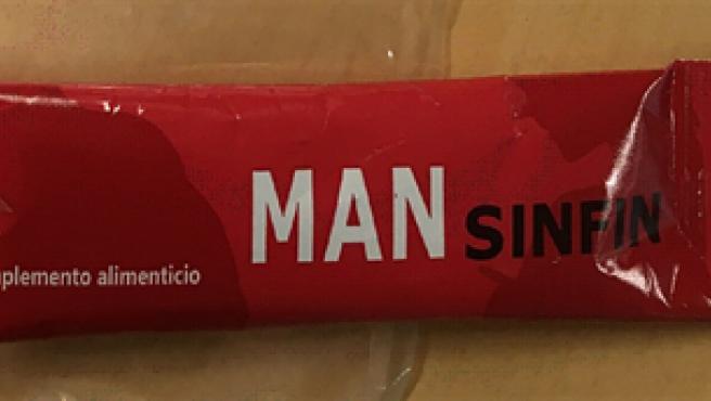Complemento alimenticio 'Man Sinfin'.