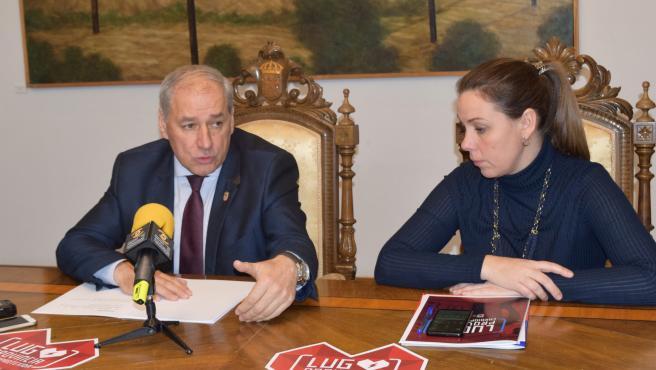 El presidente de la Diputación de Lugo y alcalde de Monforte, José Tomé, en rueda de prensa