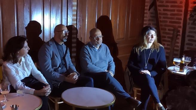 Francisco Igea, segundo por la derecha, en un encuentro con militantes de Cs en Salamanca