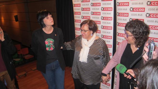Garbiñe Espejo, Mari Cruz Vicente y Loli García