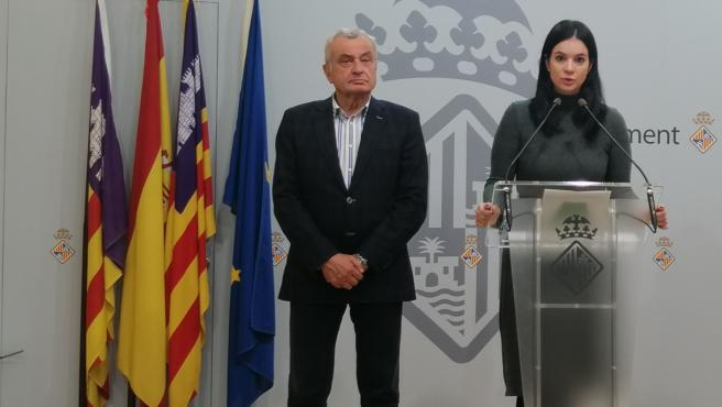 La regidora de Vox Palma, Sandra Barceló, en rueda de prensa