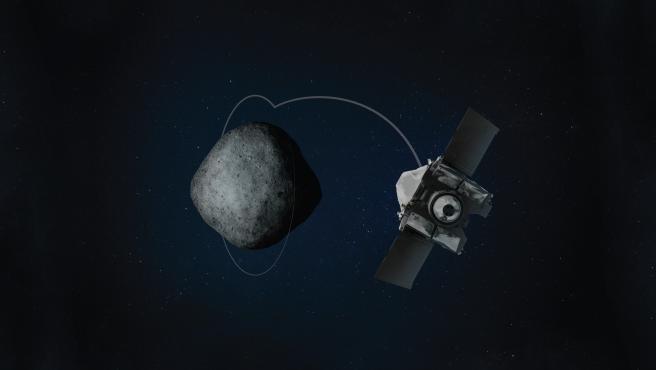 Imagen de la nave espacial OSIRIS-REx de la NASA .