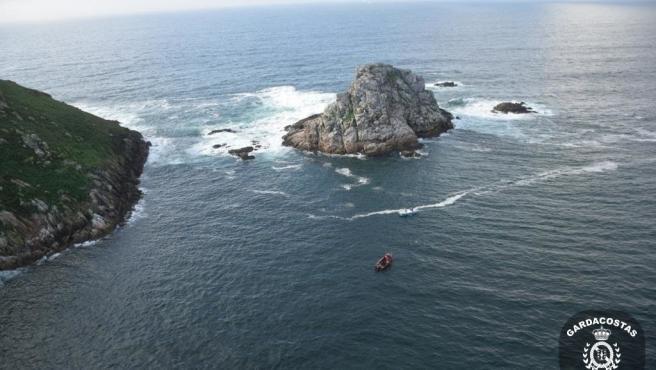 Imagen del operativo de búsqueda del marinero desaparecido.