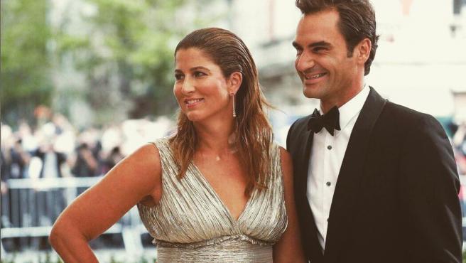 Roger Federer y su esposa Mirka, en una foto de archivo.