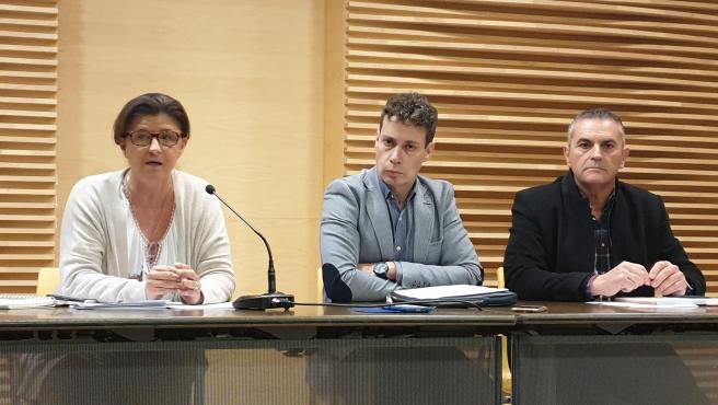 Rueda de prensa de responsables de ACOM, Carolina Morilla, Mario Rivas y Mino García