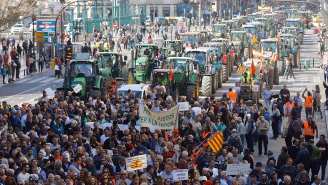 Tractorada a València en favor del futur del sector