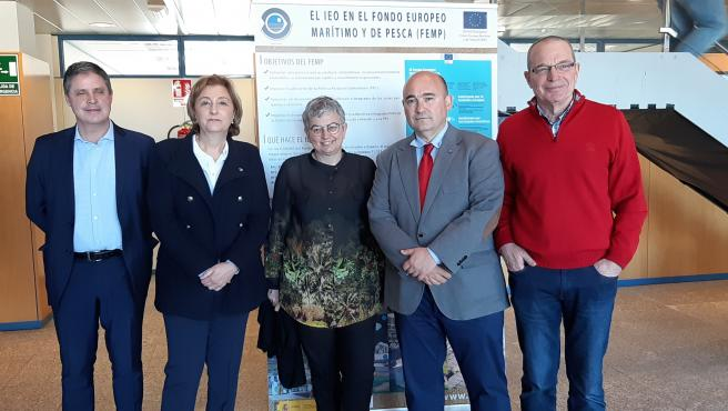 Visita de la delegada del Gobierno en Asturias, Delia Losa, y la alcaldesa de Gijón, Ana González, al Centro Oceanográfico de Gijón