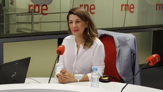 Yolanda Díaz, en RNE.