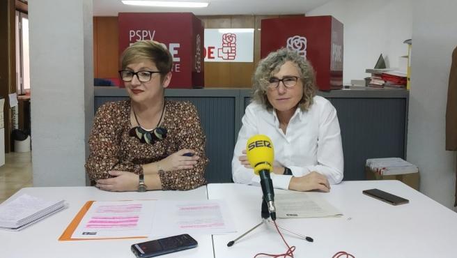 Yolanda Seva y Rosa Louis Cereceda, este viernes.