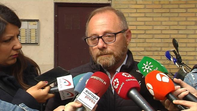 Antonio del Castillo atiende a los medios en una imagen de archivo.