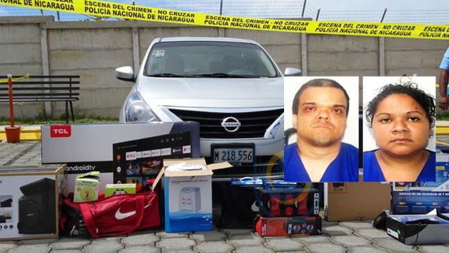 Adrián José Guerrero Echeverri y Nidia Patricia Quintana huyeron en el coche de las víctimas tras cometer el crimen en Managua, Nicaragua.