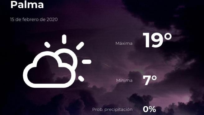 El tiempo en Baleares: previsión para hoy sábado 15 de febrero de 2020
