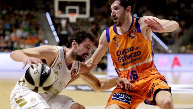 Sergio Llull, durante la semifinal ante el Valencia Basket.