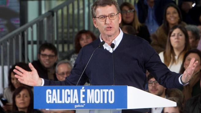 Alberto Núñez Feijóo en una intervención este sábado.