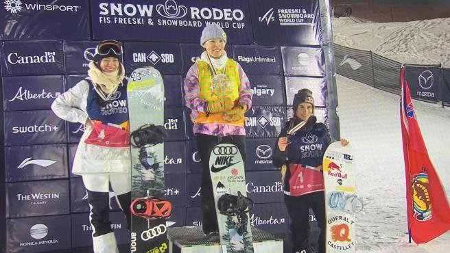 La 'rider' española Queralt Castellet se ha colgado la medalla de bronce en la clasificación de halfpipe de Copa del Mundo FIS de snowboard 2020