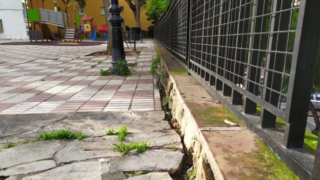 Parque entre la Avenida Maíz Viñals y la calle San Vicente, en la barriada de la Divina Pastora de Marbella