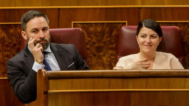 Santiago Abascal y Macarena Olona en el Congreso de los Diputados.
