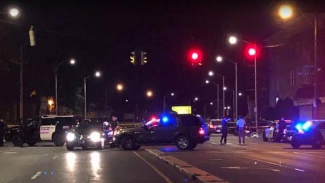 Despliegue policial tras un tiroteo en Connecticut.