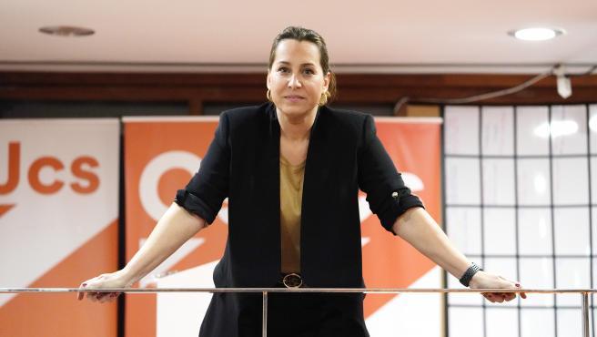 Beatriz Pino, número uno de Ciudadanos en Galicia, fotografiada en la sede del partido en Santiago