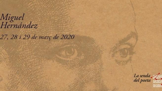 Cartell de la Senda del poeta.