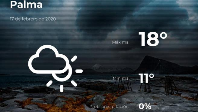 El tiempo en Baleares: previsión para hoy lunes 17 de febrero de 2020
